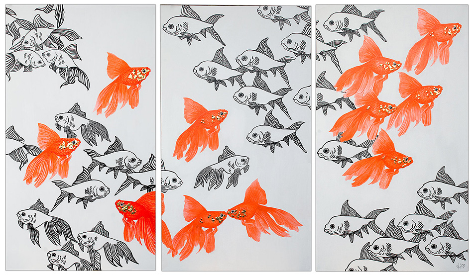 goldfish_triptych_commission